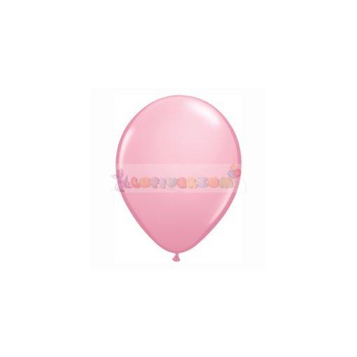 28 cm-es rózsaszín – világos latex Qualatex party Lufi Darabra