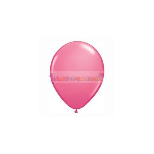 28 cm-es rózsaszín – sötét latex Qualatex party Lufi Darabra