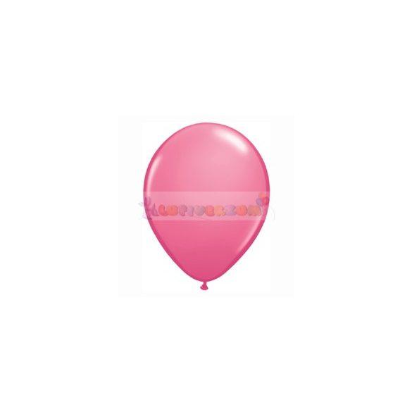 Rózsaszín - Sötét 28 cm-es latex Qualatex party lufi
