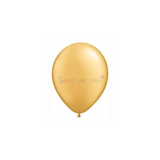 28 cm-es Arany GYÖNGYHÁZ latex Qualatex party Lufi Darabra
