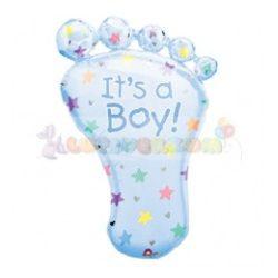 It is a Boy Foot - Bébi Talp - Super Shape Fólia Lufi Babaszületésre