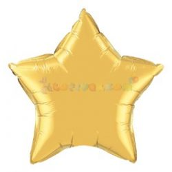 Arany Csillag Fólia Lufi 91 cm