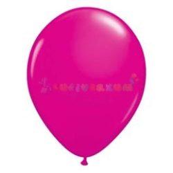 Rózsaszín - Vadmálna/magenta 28 cm-es latex Qualatex party lufi