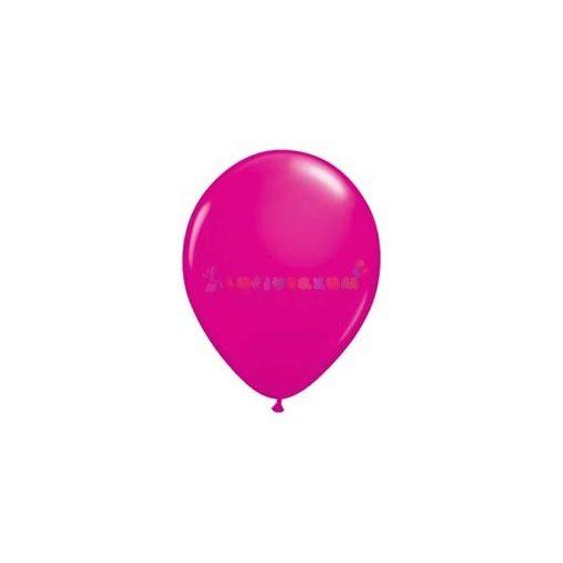 28 cm-es rózsaszín – vadmálna/magenta latex Qualatex party lufi