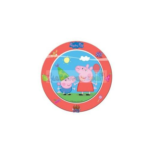 Peppa Pig Papír Parti Tányér - 8 db-os, 23 cm