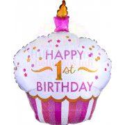 Muffin Alakú Lányos Első Születésnapi Léggömb