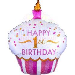 Muffin Alakú Lányos Első Születésnapi Léggömb e7fdf8adde