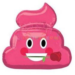 Pink Kaki Rózsa Virággal Szerelmes Fólia Lufi