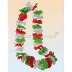 Piros-Fehér-Zöld Hawaii Szurkolói Nyakfüzér