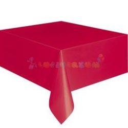 Piros Műanyag Party Asztalterítő - 137 cm x 274 cm
