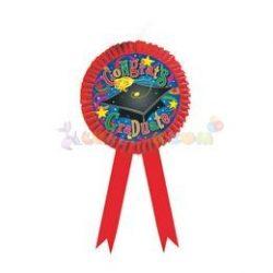 Congrats Graduate Piros Szalagos Óriás Függő Dekoráció Ballagásra - 1 db-os, 32 cm