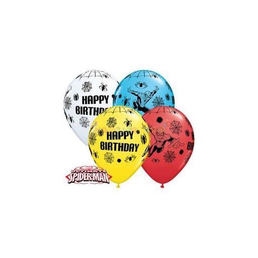 28 cm-es Pókember Születésnapi Lufi Darabra