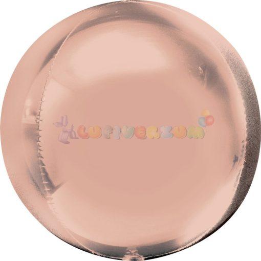 Rózsaarany Orbz fólia léggömb