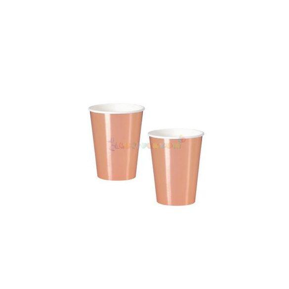 Rózsaarany Party Pohár - 355 ml, 8 db-os