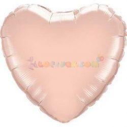 Rózsaarany fólia szív lufi 45 cm
