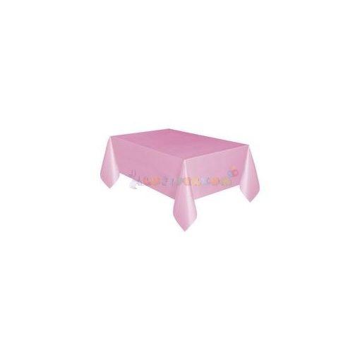 Pink Műanyag Party Asztalterítő - 137 cm x 274 cm