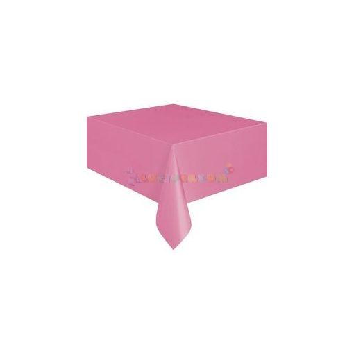 Rózsaszín Műanyag Party Asztalterítő - 137 cm x 274 cm