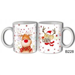 Rudolf Merry Christmas – Karácsonyi bögre – Karácsonyi ajándék