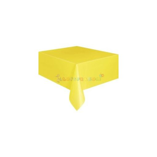 Napsárga Műanyag Party Asztalterítő - 137 cm x 274 cm