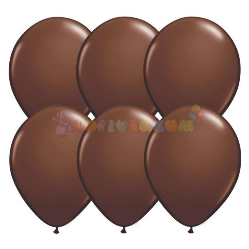 28 cm-es barna - sötét latex Qualatex party lufi