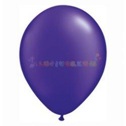 Lila - sötétlila GYÖNGYHÁZ 28 cm-es latex Qualatex party lufi