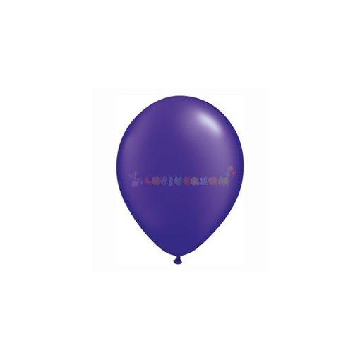 28 cm-es Lila - sötétlila GYÖNGYHÁZ latex Qualatex party lufi