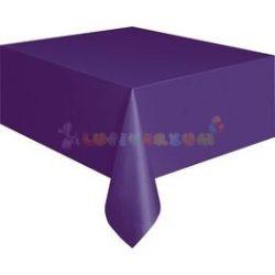 Sötétlila Műanyag Party Asztalterítő - 137 cm x 274 cm