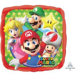 Super Mario és Csapata Fólia Lufi 45 cm