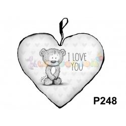 love you Nevlini – Szív formájú díszpárna P248