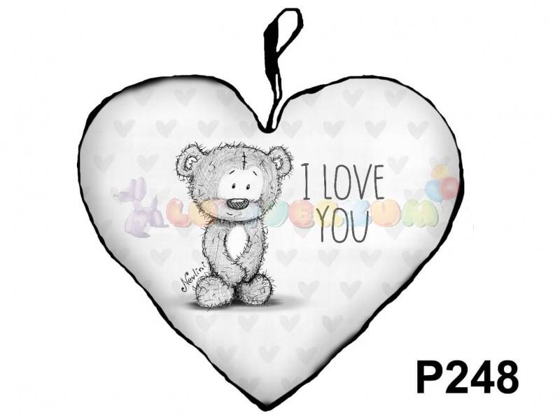 love you Nevlini – Szív formájú díszpárna P248 - lufi bolt héliumos ... aec90c965a
