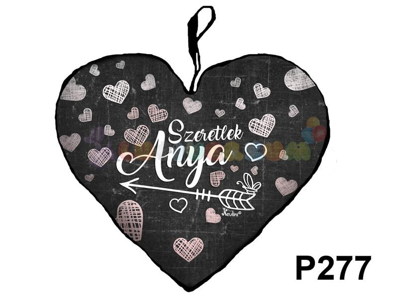 Szeretlek Anya – Szív formájú díszpárna P277 - lufi bolt héliumos ... 07f7fb4aa1