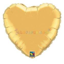 Arany - Szív Fólia Léggömb