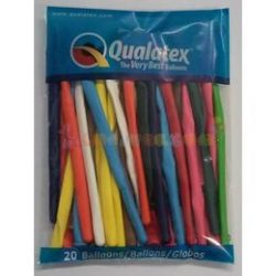 260 Q színes kukac modellező lufi 20 db/csomag