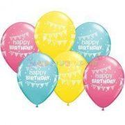 Birthday Pennants and Dots Szülinapi Lufi