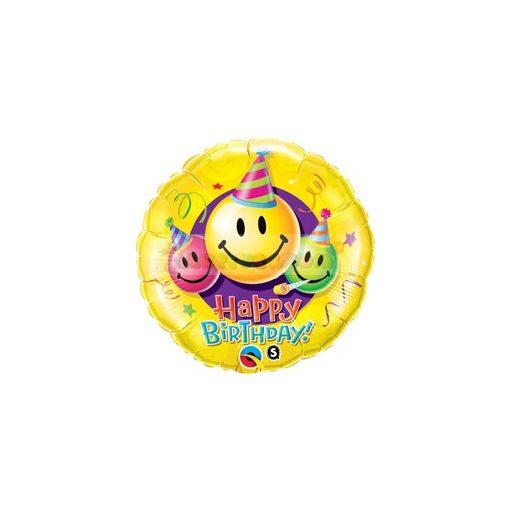 Születésnapi smile fólia lufi