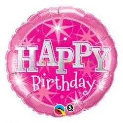Pink Csillogó Születésnapi Fólia Lufi