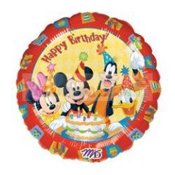Mickey & Friends Happy Birthday - Mikiegeres Szülinapi Fólia Lufi