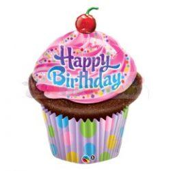 Születésnapi muffin fólia lufi