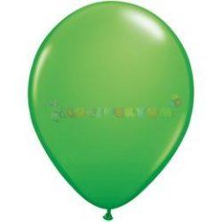 Zöld - Tavasz zöld 28 cm-es latex Qualatex party lufi