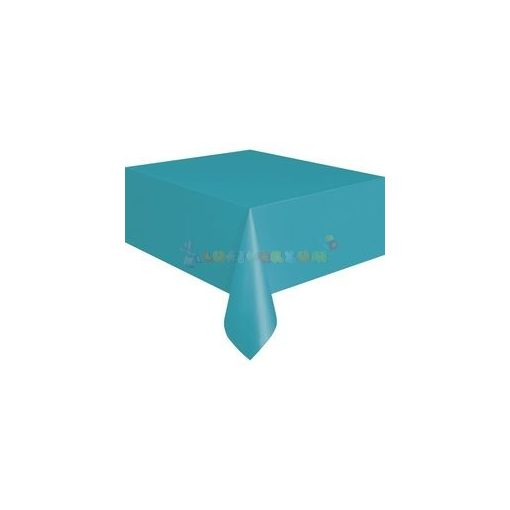 Türkiz Műanyag Party Asztalterítő - 137 cm x 274 cm