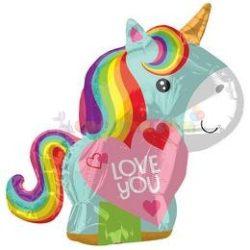 Unicorn Love Junior Shape Fólia Lufi