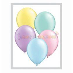 Qualatex gyöngyház gumi lufi vegyesen 25 db/cs - Pastel