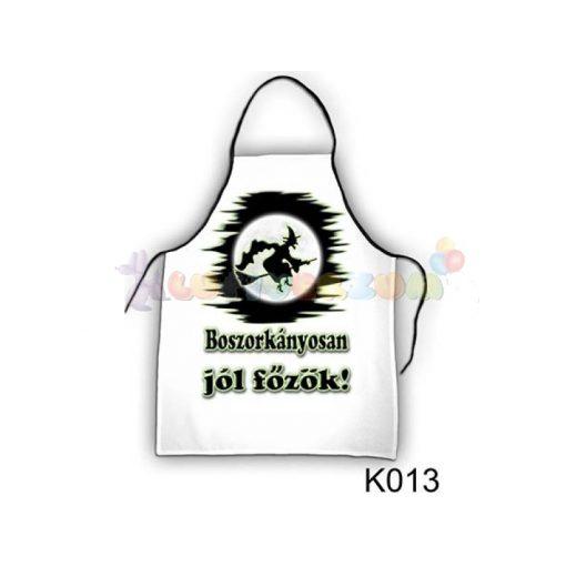 Vicces kötény - Boszorkányosan jól főzök K013