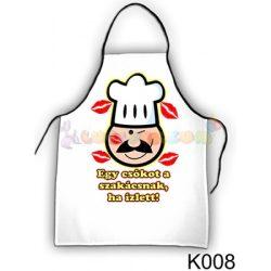 Vicces kötény - Egy csókot a szakácsnak K008