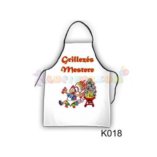 Vicces kötény - Grillezés mestere K018
