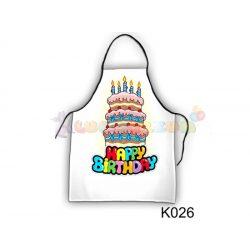 Vicces kötény - Happy torta K026