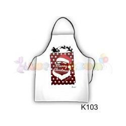 Karácsonykötény - Santa Claus (K103)