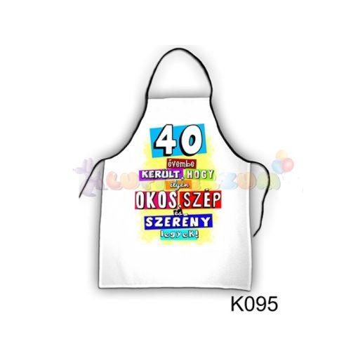 Vicces kötény - 40 évembe került K095