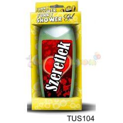 Vicces Tusfürdő Szeretlek piros 104