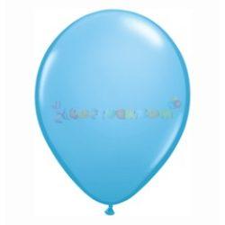 Kék - Világoskék 28 cm-es latex Qualatex party lufi